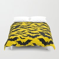 bats Duvet Covers featuring Bats by Mark Gonyea