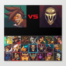 Select your Character! Canvas Print