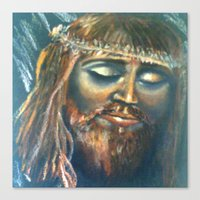 christ Canvas Prints featuring Christ by osile ignacio