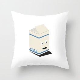Cute kawaii milk carton Throw Pillow