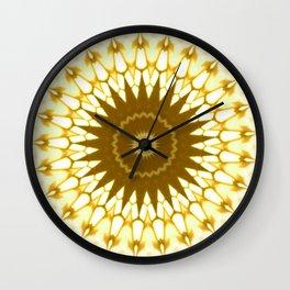 New Color Pyramidal Mandala 63 Wall Clock