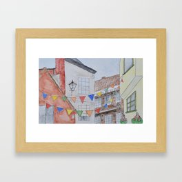 A Street in York Framed Art Print
