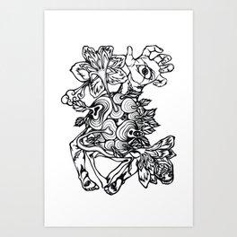 See Eden - linework Art Print