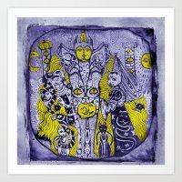A City Of A Thousand Cats Art Print