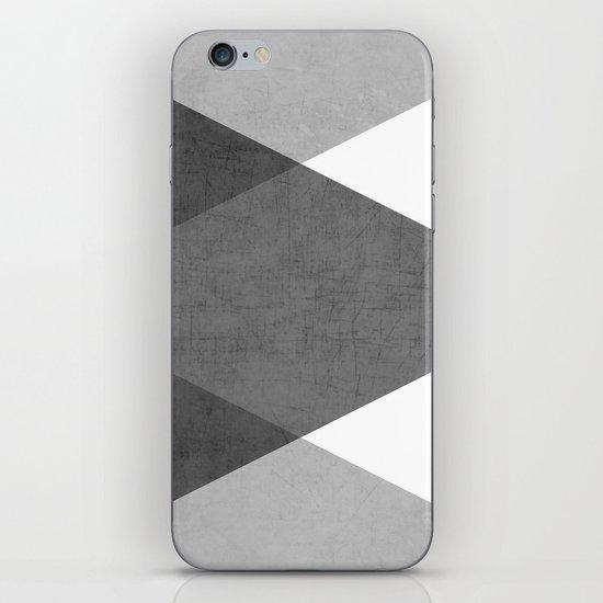 black and white triangles iPhone Skin