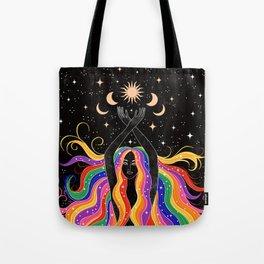 Rainbow Goddess Tote Bag