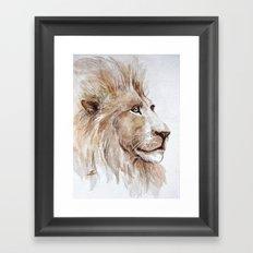 Wise lion Framed Art Print
