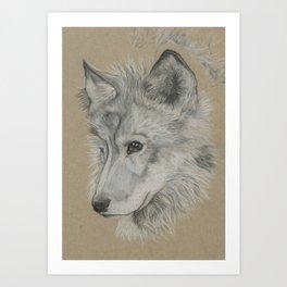 Wolf Pup Art Print