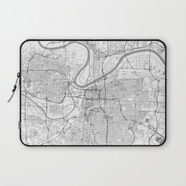 Kansas City Map Line Laptop Sleeve