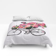 floral bicycle  Comforters