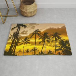Hawaiian Gold and Tropical Tangerine Sunset Rug