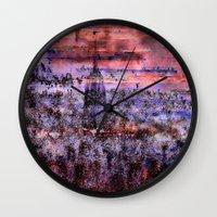 metropolis Wall Clocks featuring Metropolis by Jean-François Dupuis