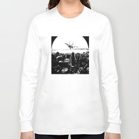 airplane Long Sleeve T-shirts featuring airplane by Anand Brai