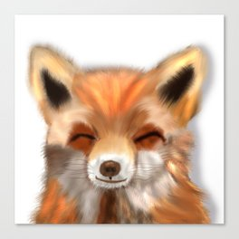 Happy Fox Canvas Print