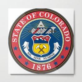 State Seal of Colorado Metal Print