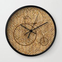 Wicker Pennyfarthing Wall Clock