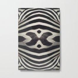 Zebra XHEAD Metal Print