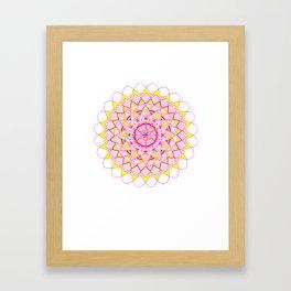pinkAndyellow Framed Art Print