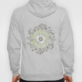 Circle Of Life Mandala With Hand Drawn Flowers Hoody
