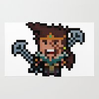 league of legends Area & Throw Rugs featuring The League of Draven by Pixel-League & CuteClayCritters
