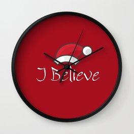 I Believe In Santa Claus #society6 #decor #buyart #artprint Wall Clock