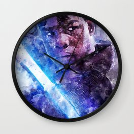 StarWars Finn Watercolor Wall Art Print, Poster, Movie Art, The Last Jedi and The Force Awakens Wall Clock