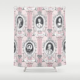 Science Women Toile de Jouy - Pink Shower Curtain