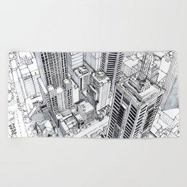 City view Beach Towel