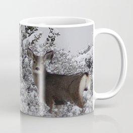 Mule Deer in the Oregon Snow Coffee Mug