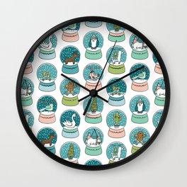 Christmas Snow Globe, Christmas Time, Snow Days, Holly Jolly Holidays! Wall Clock