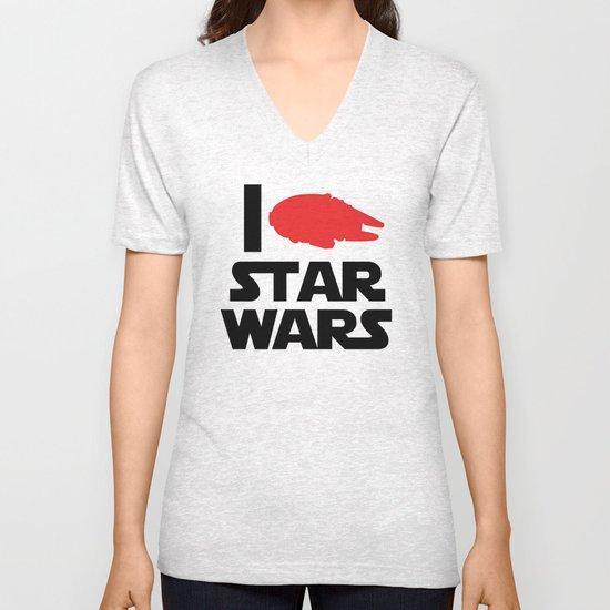 I Heart Star Wars Unisex V-Neck