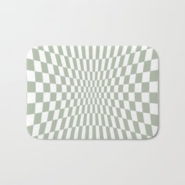 Optical Game Mint Green Bath Mat