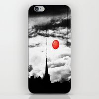 gotham iPhone & iPod Skins featuring Gotham city by Anna Andretta