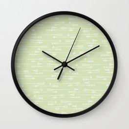 Follow the arrow Wall Clock