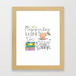 Happiness is... /Tea Framed Art Print