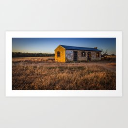 Perry's Bunkhouse - Western Australia Art Print