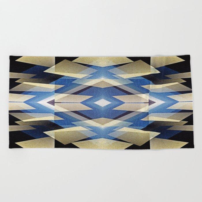 BlueStarNova Beach Towel