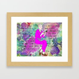 I must give you my thoughts, my mind, my dreams Framed Art Print