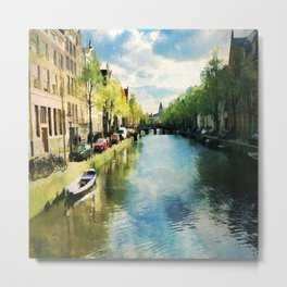 Amsterdam Waterways Metal Print
