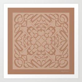 Courage of her Conviction Mandala - Warm Beige Art Print