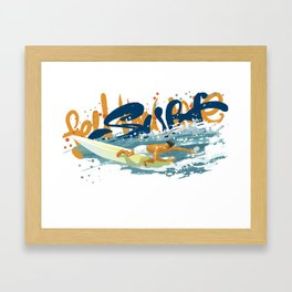 Surfer print Framed Art Print