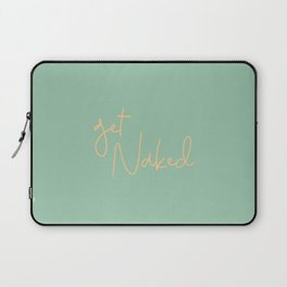 Get Naked Green/Yellow Tropical Laptop Sleeve