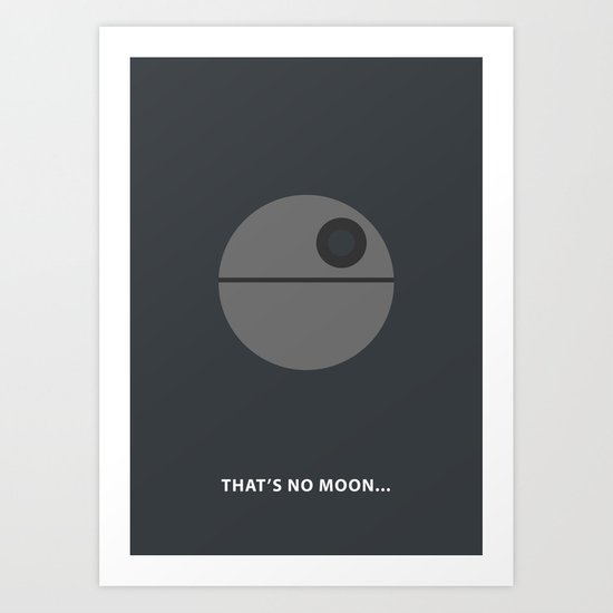 Star Wars Minimalism - Death Star Art Print
