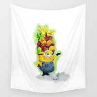 minion Wall Tapestries featuring Minion by Siney