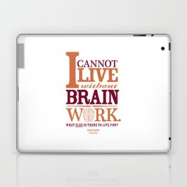 Sherlock Holmes novel quote – brain work Laptop & iPad Skin