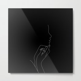 Profile illustration - Jemma Metal Print