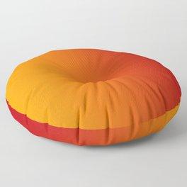 Red Orange Gradient Floor Pillow