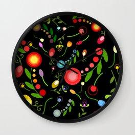 Dark garden Wall Clock