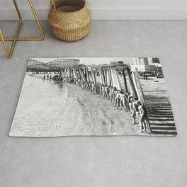 Long Beach Surf Contest 1930s Rug