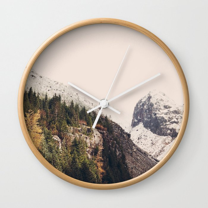 Winter Mountain Morning Wall Clock